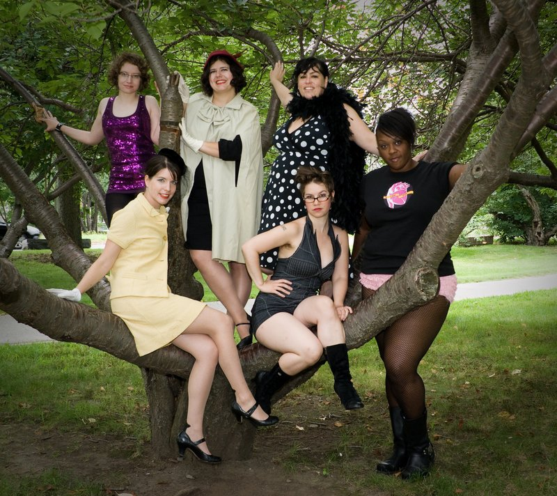 The Femme Show performers, clockwise from top right: Alana Kumbier, Rachel Kahn, Mylene St. Pierre, Alicia Greene, Havalah Backus and Maggie Cee.