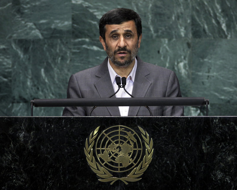 "Iranian President Mahmoud Ahmadinejad, speaking at a U.N. summit Tuesday, said world leaders should ""spare no effort"" to reform international economic and political institutions."