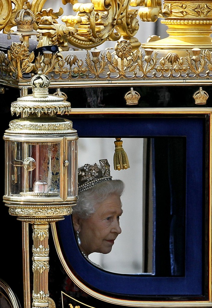 Britain's Queen Elizabeth II is seen in May in London. An FOIrequest revealed that a government fund to subsidize heat for low-income Britons got an application in 2004 from Queen Elizabeth II, who wanted help for Buckingham Palace.