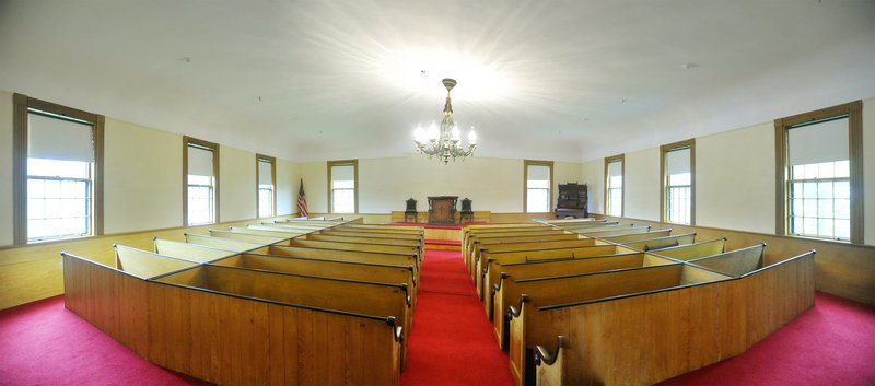 A large part of the Spurwink Church renovations was the replacement of the rubble foundation and the addition of a partial basement to provide storage space. The church is a popular setting for weddings, memorial services and other functions.