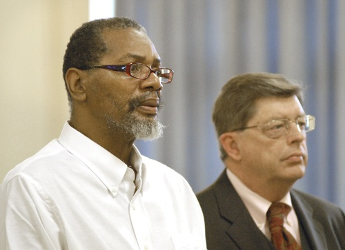 Rory Holland, left, with his attorney, Clifford Strike