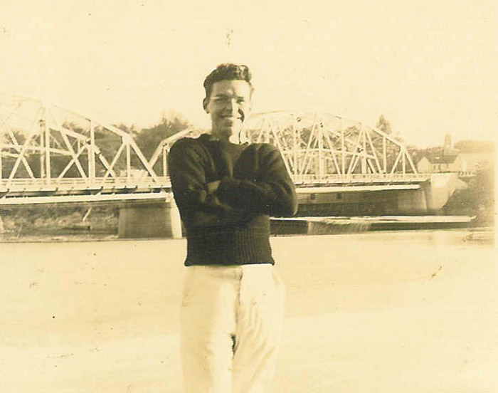 Bion Cram in Brunswick in 1935, when he was enrolled at Bowdoin College.