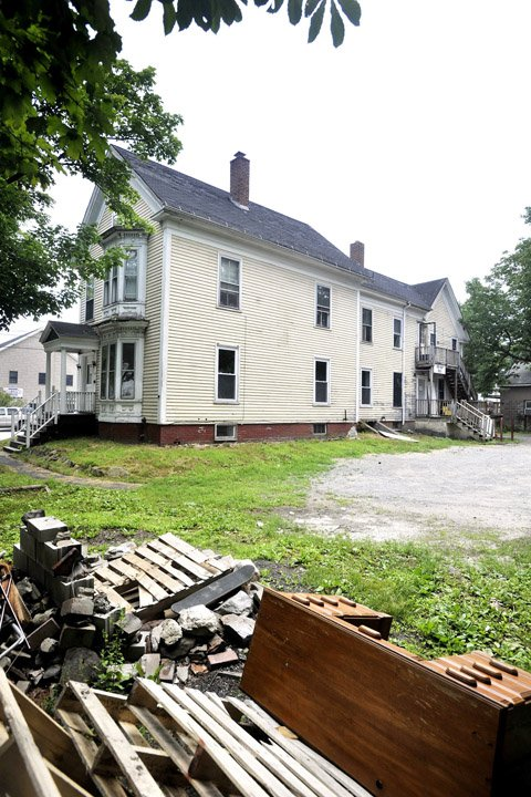 The former Phi Kappa Sigma house at 27 Preble St. in Gorham.