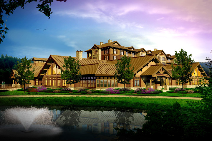 This is a conceptual rendering of the proposed casino to be built in Oxford, Maine, if approved by voters in the November election.