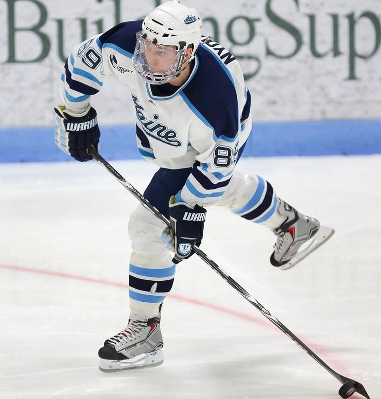 Gustav Nyquist last season became the first Hobey Baker finalist from Maine in four years, but his focus remains on helping the Black Bears reach the NCAAs.