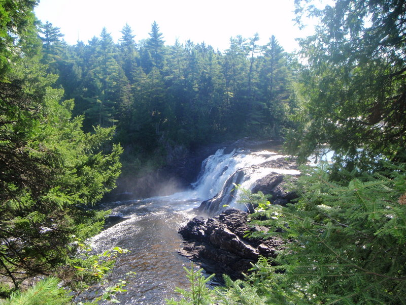 Grand Falls spills into the Dead River near Maine Huts & Trails' newest addition.