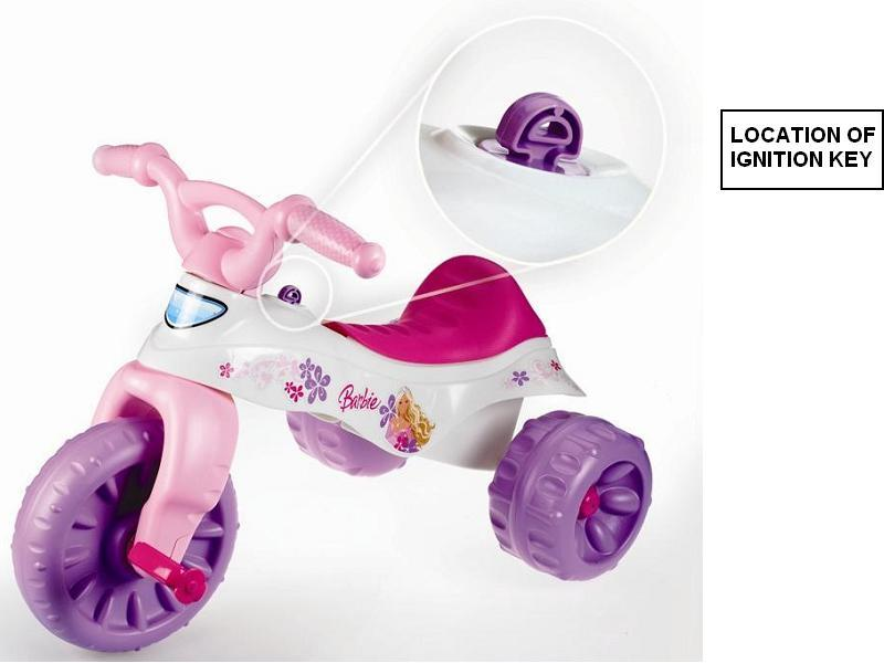 Children can strike, sit or fall on the protruding plastic ignition key on Fisher-Price tricycles, resulting in serious injury, according to the Consumer Product Safety Commission.