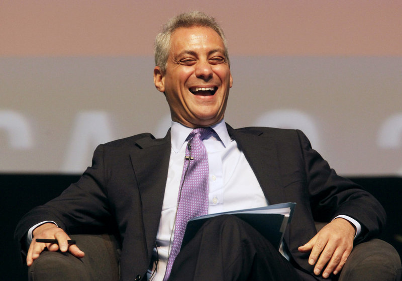 Rahm Emanuel participates in the sixth annual Richard J. Daley Global Cities Forum in Chicago last April. Emanuel said Sunday that he is preparing to run for mayor of Chicago.