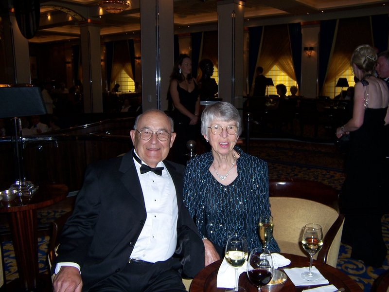 Donald Graves and his wife, Betty, took a cruise to France on the Queen Mary 2 in 2008.