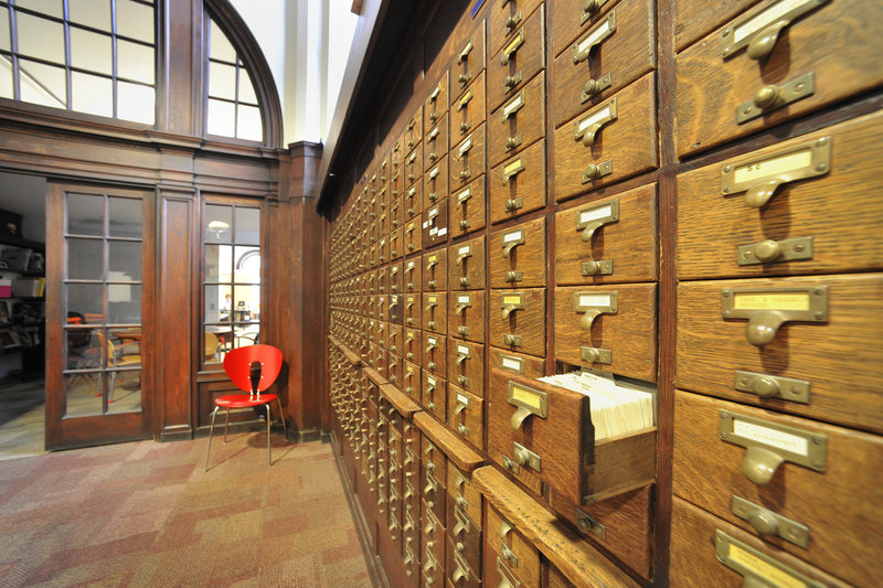 A lack of tenants made it difficult for the Maine College of Art to sell the 122-year-old former Baxter Library building on Congress Street. But then John Coleman, CEO of the advertising company VIA Group, decided to move his firm there. A number of library features, like the old card catalog, have been retained.