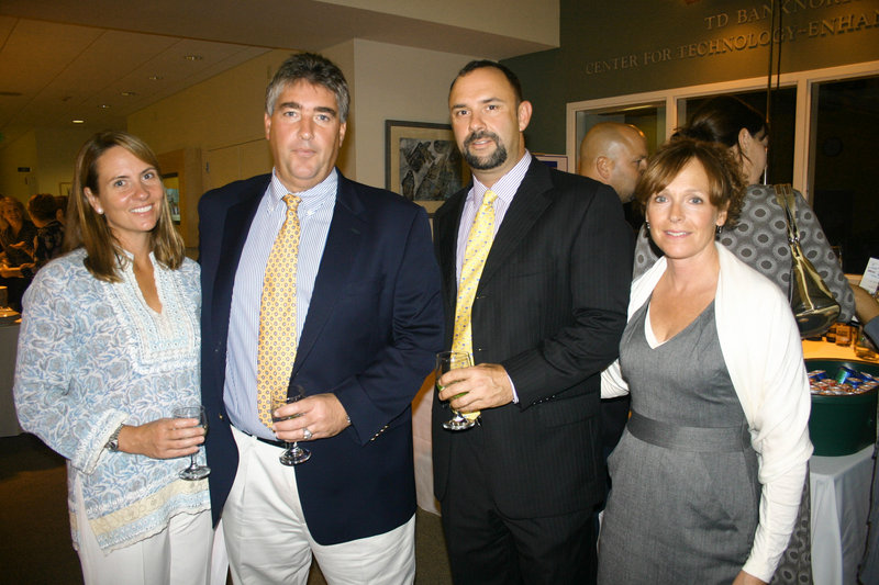 Falmouth residents Patrice Fallon, John Fallon, Jack Zinn, who is with lead sponsor The Danforth Group, and Jennifer Zinn.
