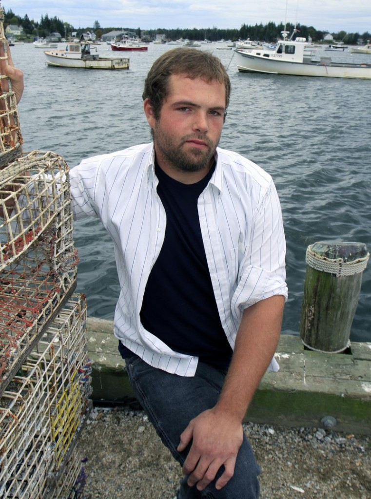 """""""The first time I had it, about half of my leg was swollen and red. It's nasty,"""" says Landon Morton, a Vinalhaven lobsterman. He's battled staph infections four or five times in the past year and a half, since first coming down with MRSA while working on one of the town's docks."""