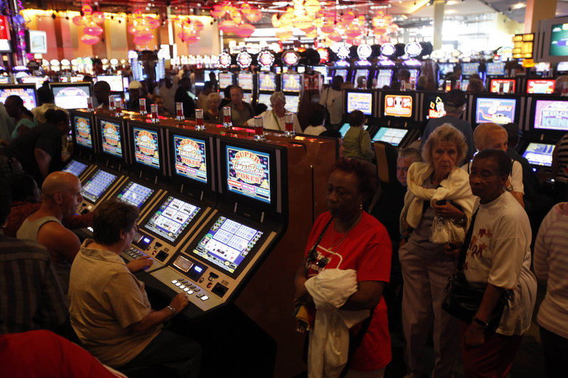 People enter to gamble at the newly opened Sugar House Casino in Philadelphia, which became the largest U.S. city with a casino Sept. 23 after years of community protests and delays.