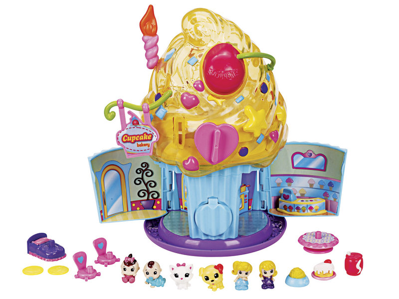 Among the toys expected to be big sellers this year are Squinkies, shown lined up if front of the Squinkies Cupcake Surprise Bakery. Made by Blip Toys, Squinkies are rubber figures sized to fit on the tops of pencils that sell for $6.99 for a set of 12. The low price is part of their appeal.