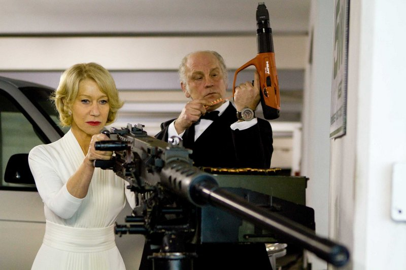 Mirren and Malkovich lock and load.