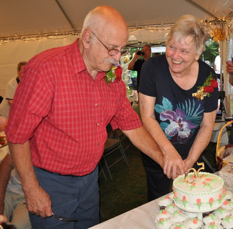 Priscilla Poitras and husband Bob celebrate their 50th anniversary this summer.