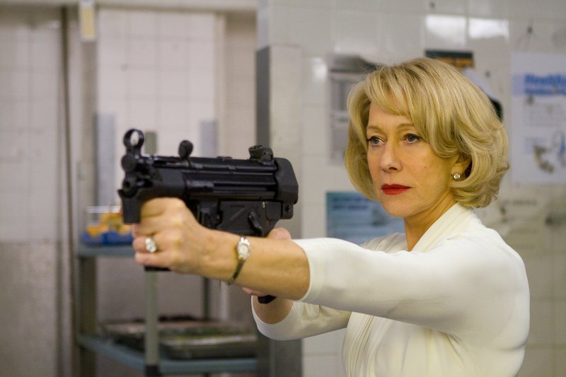 """Helen Mirren plays a former spy who's good with guns in the movie """"RED,"""" which opens Friday."""