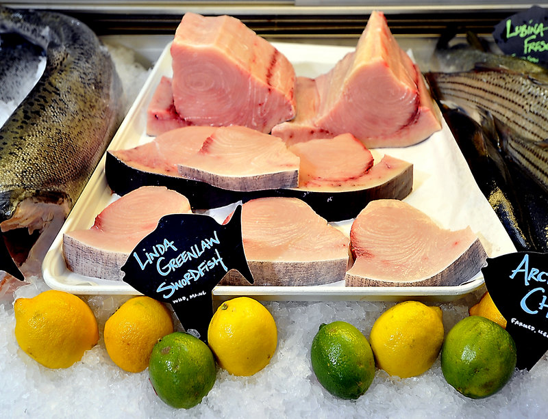 Browne Trading Company sells Greenlaw Swordfish. Hannaford Supermarkets also carry the Maine author's brand of swordfish.