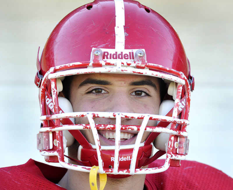 Mike Cyr of Scarborough High has the potential to be a Division I-AA football player, says his coach, Lance Johnson. Cyr s standout play as a two-way end is a major reason the Red Storm have bounced back from a 1-7 season to go 5-1 with two games left in the regular season.