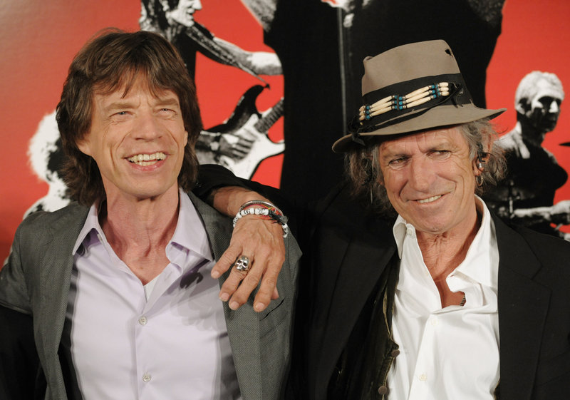 Rolling Stones Mick Jagger, left, and Keith Richards are shown in 2008. In his soon-to-be-published autobiography, Richards says he and Jagger used to be friends but have been estranged for decades.