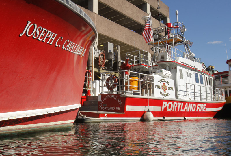 Portland's fireboats, the Cavallaro and City of Portland, have to wait for a firefighter to arrive from a nearby station before leaving port. That situation slowed response when a woman jumped off the Casco Bay Bridge.
