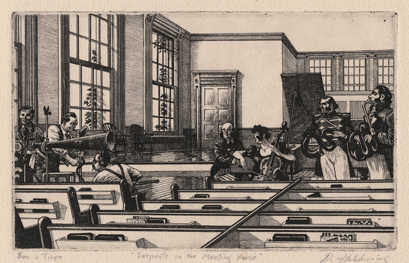 "David Itchkawich's etchings ""Serpents in the Meeting House"""
