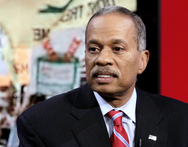 """News analyst Juan Williams, appears on the """"Fox & Friends"""" TV program in New York on Thursday, after he was fired by one of his employers, National Public Radio."""