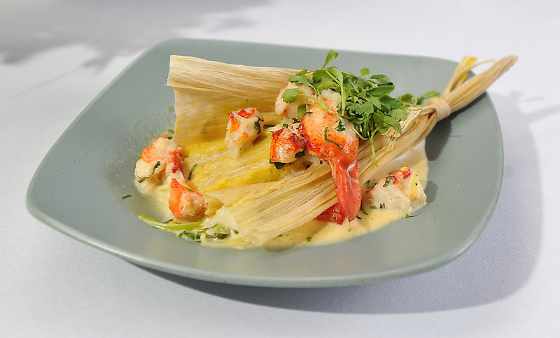 Steamed Maine Lobster and Sweet Corn Tamale by Clifford Pickett of DiMillo's Floating Restaurant in Portland.
