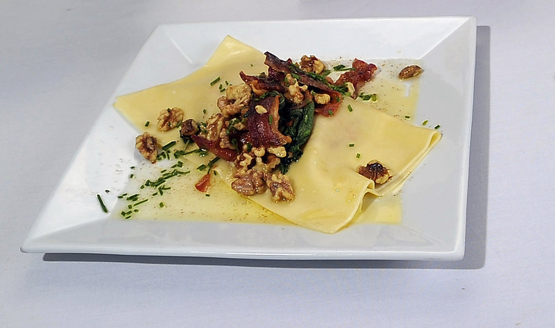 Rustic Maine Lobster and Butternut Squash Ravioli by Bill Clifford of No. 10 Water in Brunswick.