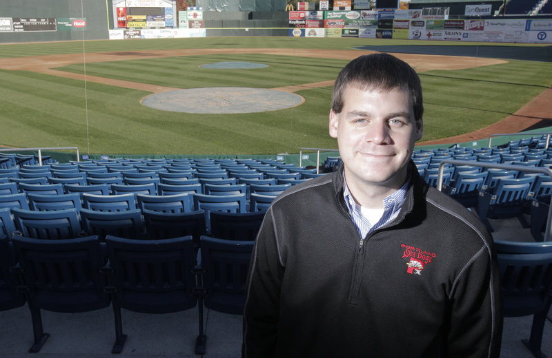 Geoff Iacuessa has done everything from roll the tarp on Hadlock Field to selling ads for the Sea Dogs. Now he s the team's general manager.