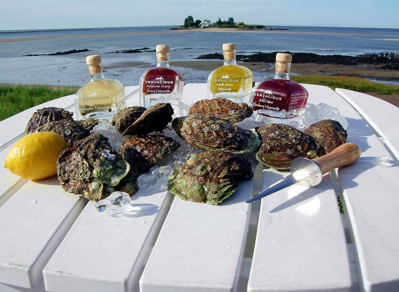 Vervacious carries a line of oyster mignonettes in several intriguing flavors: Andalusian orange sherry, wasabi ginger, grains of paradise, Belon green peppercorn and wild Maine blueberry. The mignonettes are available at the Vervacious store at 227 Commercial St. or online at shop.vervacious.com.