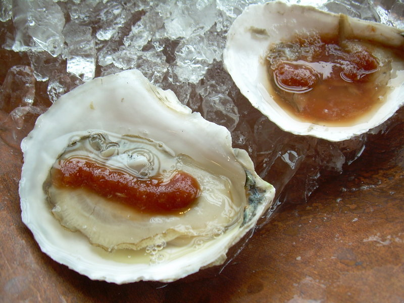 Kayli Lee, owner of WaldoStone Farm in Montville, has developed five new oyster mignonettes: champagne tarragon, salsa, sesame ginger, horseradish lime and seaweed cucumber. The sauces are available at Jess's Market in Rockland and Damariscotta Fresh Fish Company. Harbor Fish Market in Portland plans to stock the mignonettes in time for the holidays.