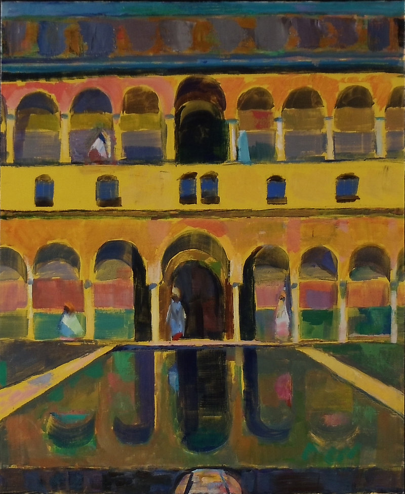 "Ed Douglas' oil on linen ""Alhambra IX"""