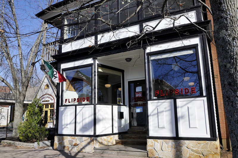 Flipside in Brunswick uses ingredients sourced locally or regionally, and specializes in topping combinations not necessarily associated with pizza.