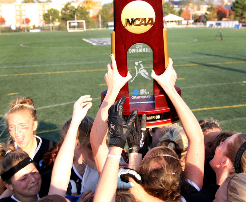 The feeling never will get old. Not for Bowdoin, which has won three of the last four Division III field hockey titles.