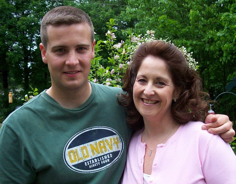 Daryl Walsh and his mom Deborah are seen in a photograph from 2006, taken after his basic training graduation.