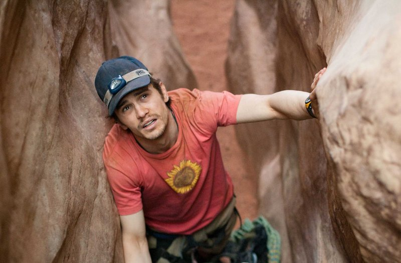 """James Franco delivers a bravura performance as Aron Ralston, a self-reliant thrill-seeker trapped in the canyons of Utah, in Danny Boyle's """"127 Hours."""""""
