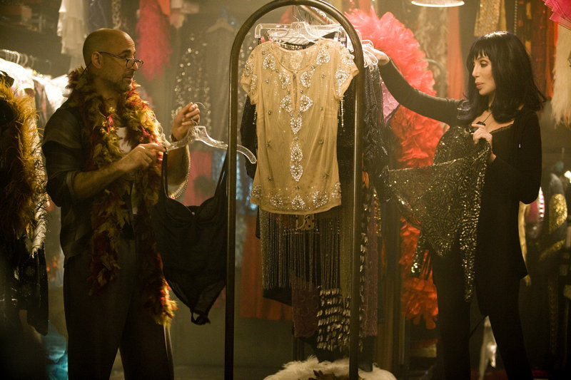 """Stanley Tucci and Cher star in """"Burlesque."""""""