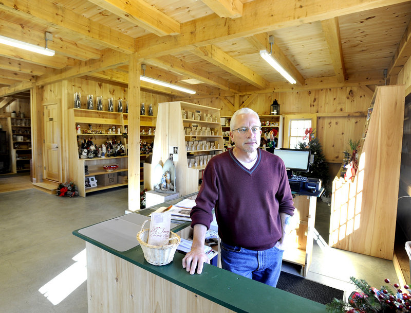 Jay Cox has added a store to the Old Farm Christmas Place of Maine in Cape Elizabeth.
