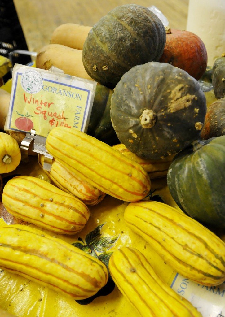 Winter squash from Goranson Farm in Dresden.