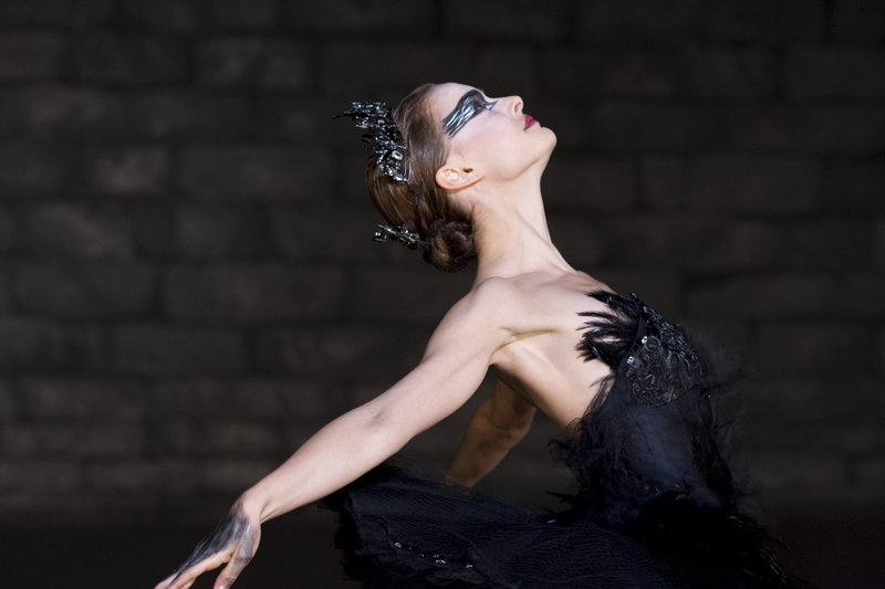 "Natalie Portman stars as a ballerina caught up in a twisted relationship with a young fellow dancer in ""The Black Swan."""