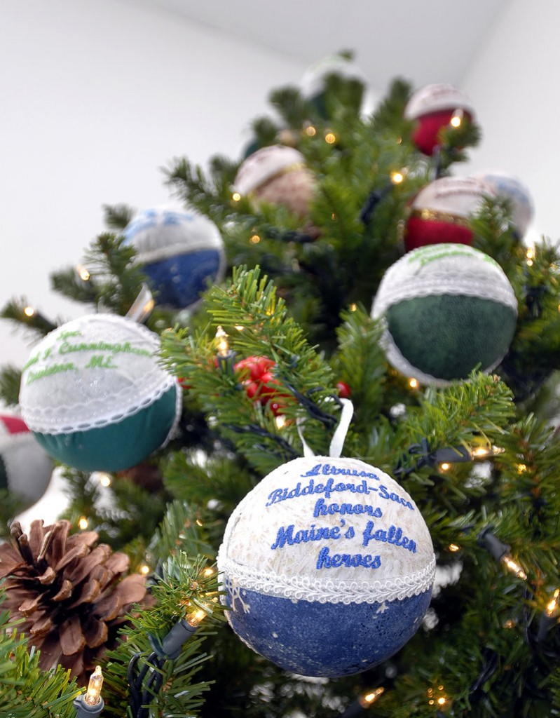 The Saco Museum's Festival of Trees continues through December.