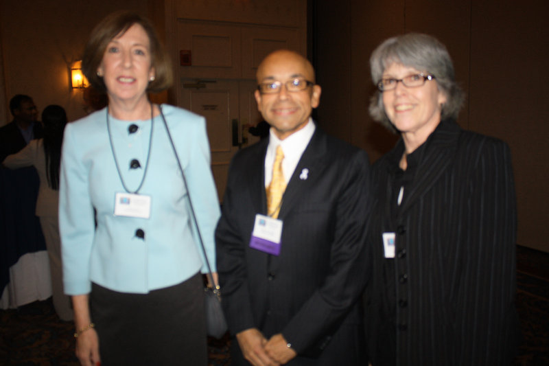 Maine Medical Center representatives Joanne Brown, honoree Hector Tarazza and Ann Cross