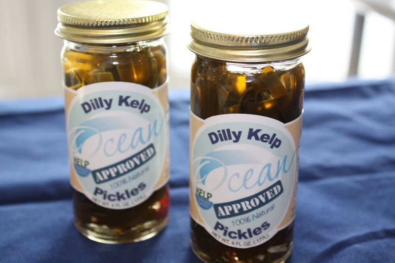 Dilly Kelp Pickles are sold at Harbor Fish Market and Browne Trading Company in Portland, and soon will be at Hannaford.