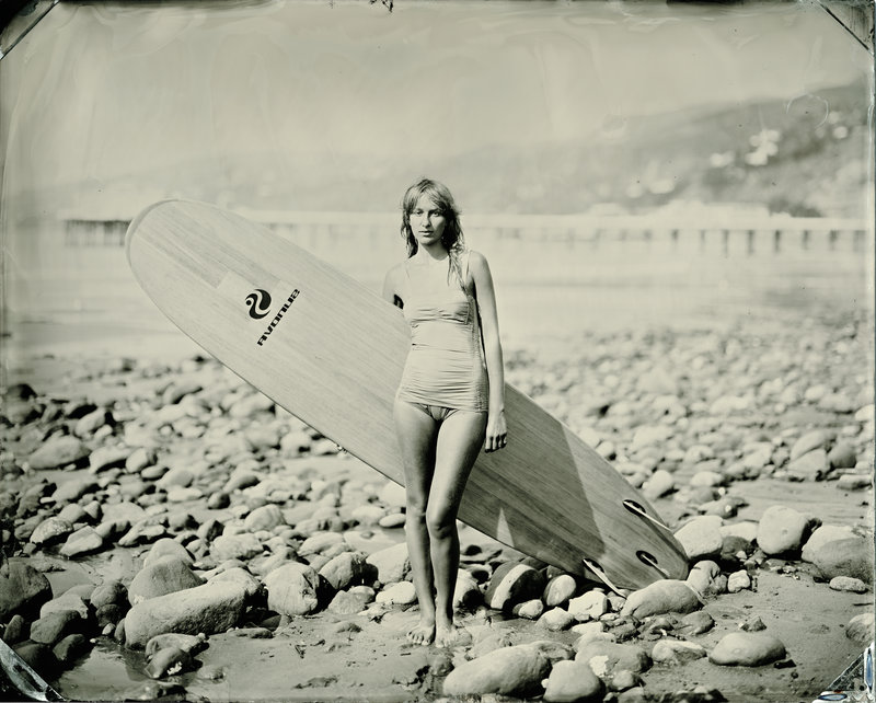 Joni Sternbach's photograph of a surfer is part of the Bakery Photo Collective's 11th Photo A Go-Go.