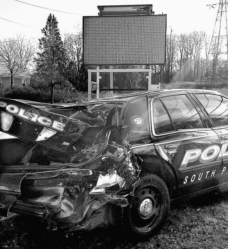 Not everyone appreciates South Portland's ghastly reminder about the dangers of distracted driving.