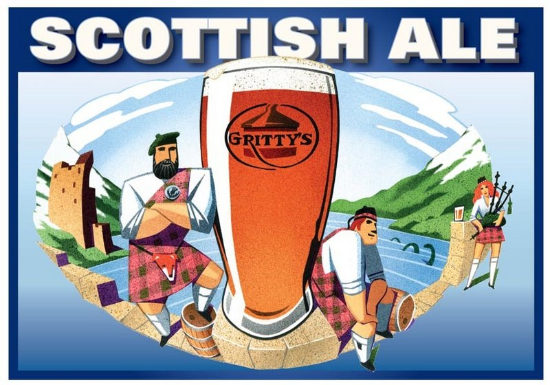Gritty's Scottish Ale is the first brew to undergo repackaging. Gritty McDuff's project begins this month with a redesign of all bottles, labels, cartons and boxes and is expected to last a year.