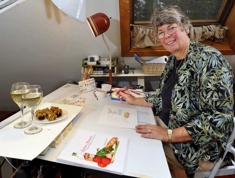 Brenda Erickson in the studio at her Round Pond home.