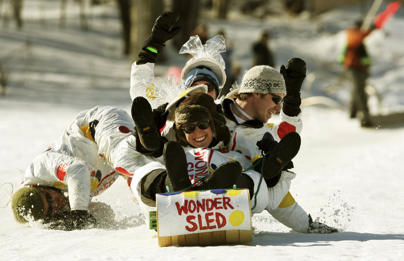 The U.S. National Toboggan Championships are held in Camden.