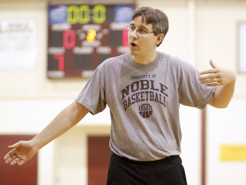 A.J. Dufort's efforts may be succeeding. Noble had 56 players try out for boys basketball this season.